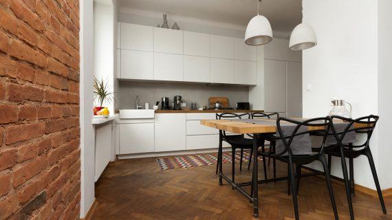 apartment, wall of bricks, dining table-4489573.jpg